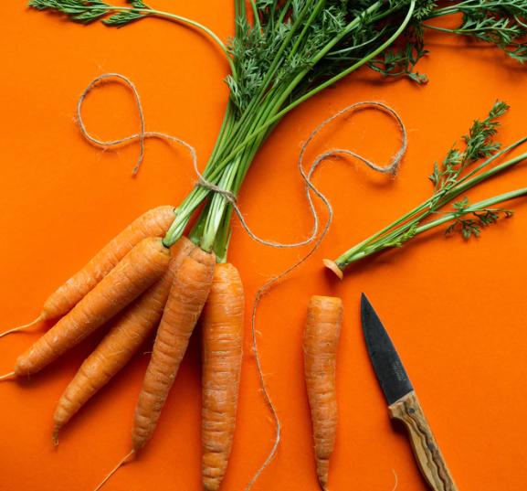 Carrots including Vitamin A